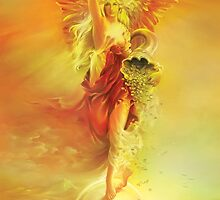 ANGEL OF ABUNDANCE (FORTUNA) - Greeting Cards & Postcards by Anna Ewa Miarczynska