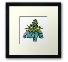 Stoned Bulbasaur Framed Print