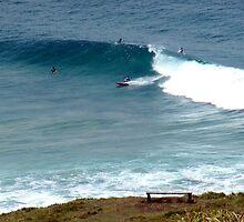 Surfing at Lennox Head by John Vriesekolk