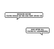 Oasis Wonderwall lyrics by Beth McConnell