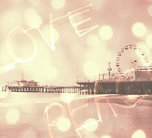 Pink Santa Monica Pier Love Peace by stine1
