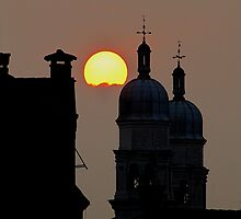 Sunset Over Venice by Loree McComb