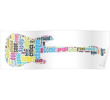 Guitar Typography Bob Dylan Times They Are A Changin Poster