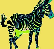 Zebra Pop Art by Florian Rodarte