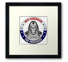 Sasquatch For President Framed Print