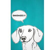 Sausages ( Teal ) Photographic Print