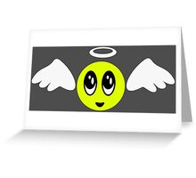 Angel Smiley (yellow) Greeting Card