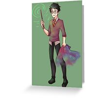 Harry Potter is Green ! Greeting Card
