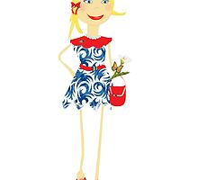 """""""Leyna"""" paper doll girl vector by nancyanndesigns"""