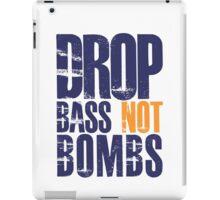 Drop Bass Not Bombs (violet/mustard)  iPad Case/Skin