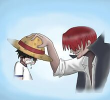 Shanks and Luffy by Jaime391