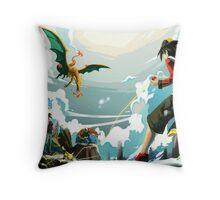 Pokemon Battle Throw Pillow