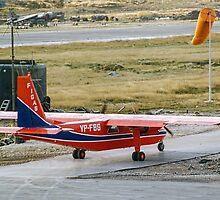 FIGAS BN-2B Islander VP-FBG at Stanley by Colin Smedley