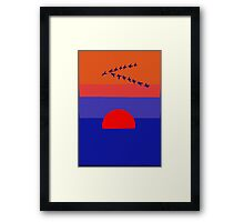 Fly Into The Sunset Framed Print