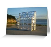 Island Sculpture Greeting Card