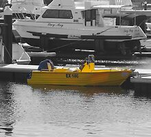 Yellow boat by lezvee