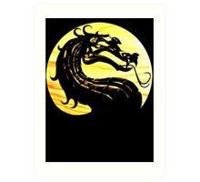 Mortal Kombat Dragon Art Print