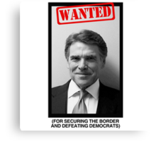 RICK PERRY MUG SHOT Canvas Print