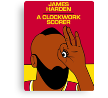 James Harden (A Clockwork Scorer) Canvas Print