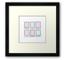Shake it like a polaroid picture Framed Print
