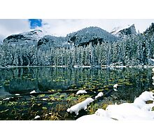 Early Snow at Nymph Lake Photographic Print