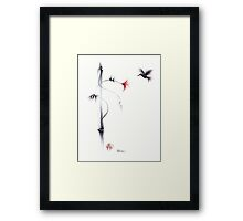 Sweetness - Hummingbird & Flower Painting Framed Print