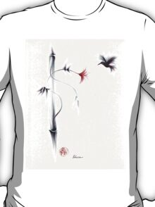 Sweetness - Hummingbird & Flower Painting T-Shirt