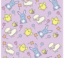 Cute Spring Pattern by Adriana Cruz Berdecia