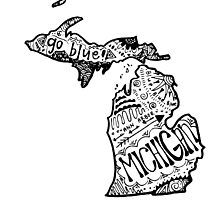 Hipster University of Michigan Outline by alexavec