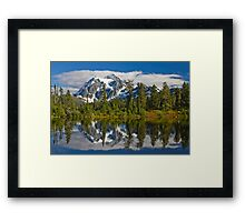 Mt. Shuksan Reflection Framed Print