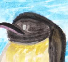 Watercolor Penguin Sticker