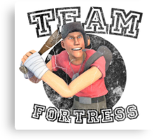 Team Fortress 2 Scout College Sports Design Metal Print