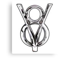 V8 Logo Metal Print