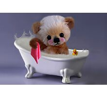 PRIVACY PLEASE..FLOFFY BEAR IS TAKING A BATH..PICTURE/CARD Photographic Print