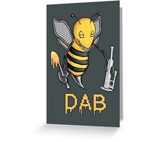 Bee Dab Greeting Card