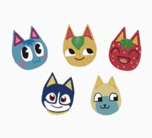 Animal Crossing Cat Sitcker Set by bigbluemoon