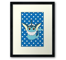 Vaporeon Cutie Framed Print