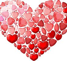 Jewel heart by Hipatia