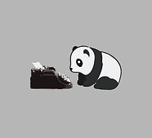 Typewriter Panda by Clothos & Co.