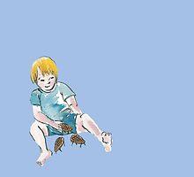 Poika ja käpylehmät / Boy and his Pine Cone Cows by Ruuti