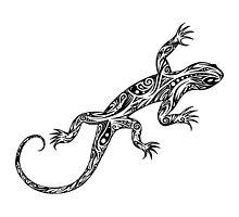 Tribal Lizard by fantasticdrawer