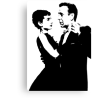 Audrey Hepburn And Humphrey Bogart Canvas Print