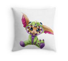 Dino Gnar Throw Pillow