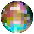 Square Sphere 2 on White by james miller
