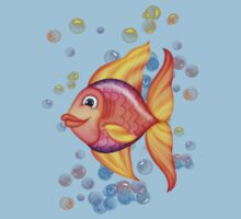 Happy Colorful Fish .. tee shirt by LoneAngel