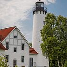 Point Iroquois Lighthouse - Michigan by Robert Kelch, M.D.