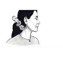Aung San Suu Kyi Illustration Photographic Print