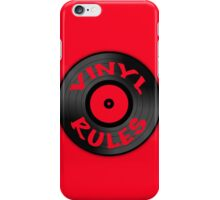 Vinyl Rules iPhone Case/Skin