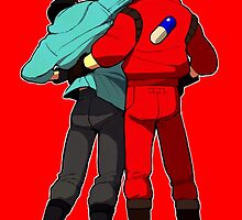 AKIRA - Kaneda and Tetsuo 'F**K OFF!' SAMSUNG ED. by cobaltcannon