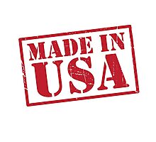 Made In The USA Red Photographic Print